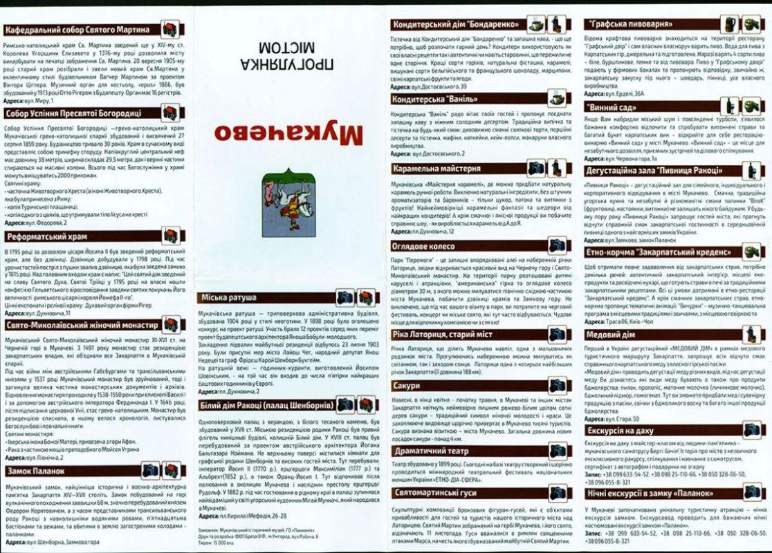 Фахівці з УжНУ доклалися до створення туристичної мапи Мукачева