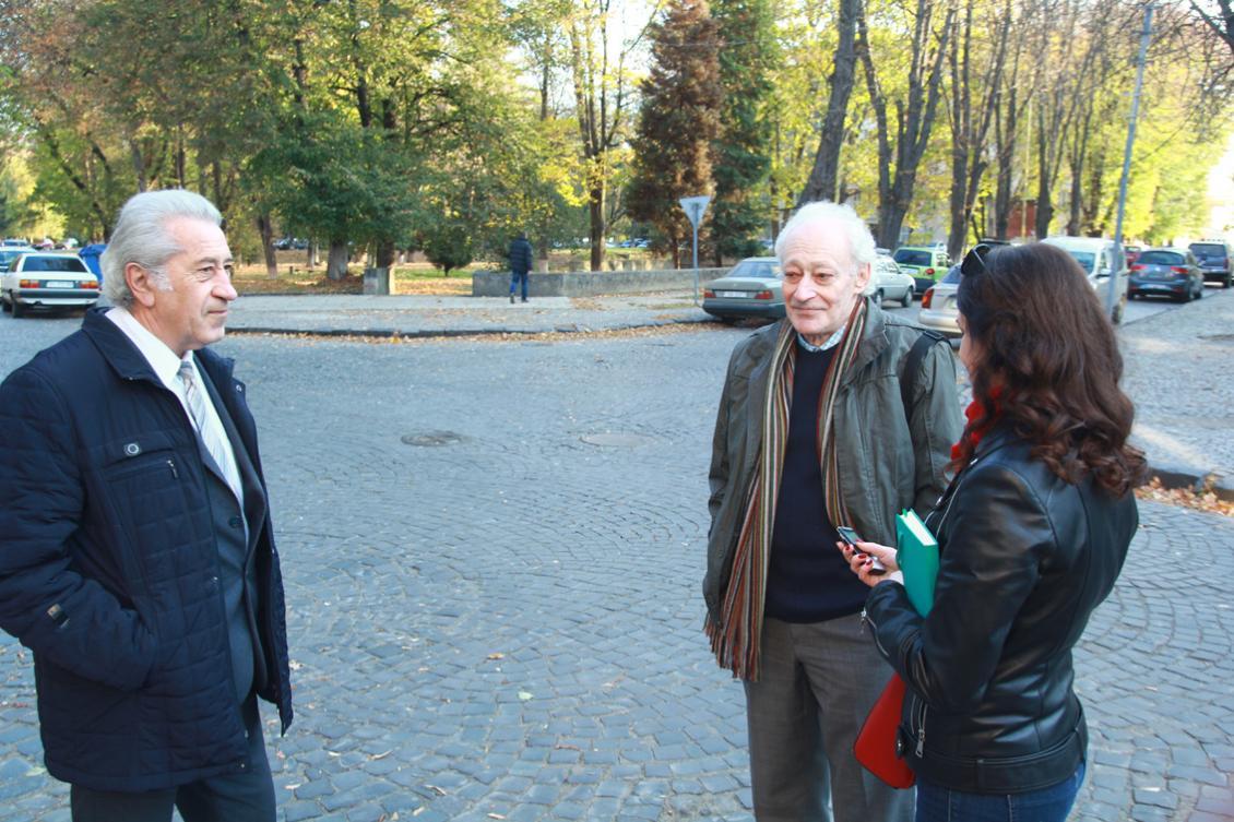 Зліва направо: Володимир Лазур, Юлій Єлінек та Наталія Каралкіна