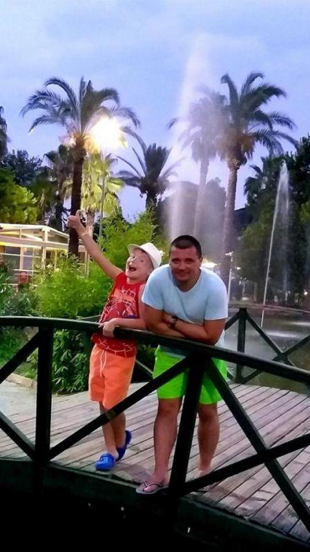 З сином Юрієм