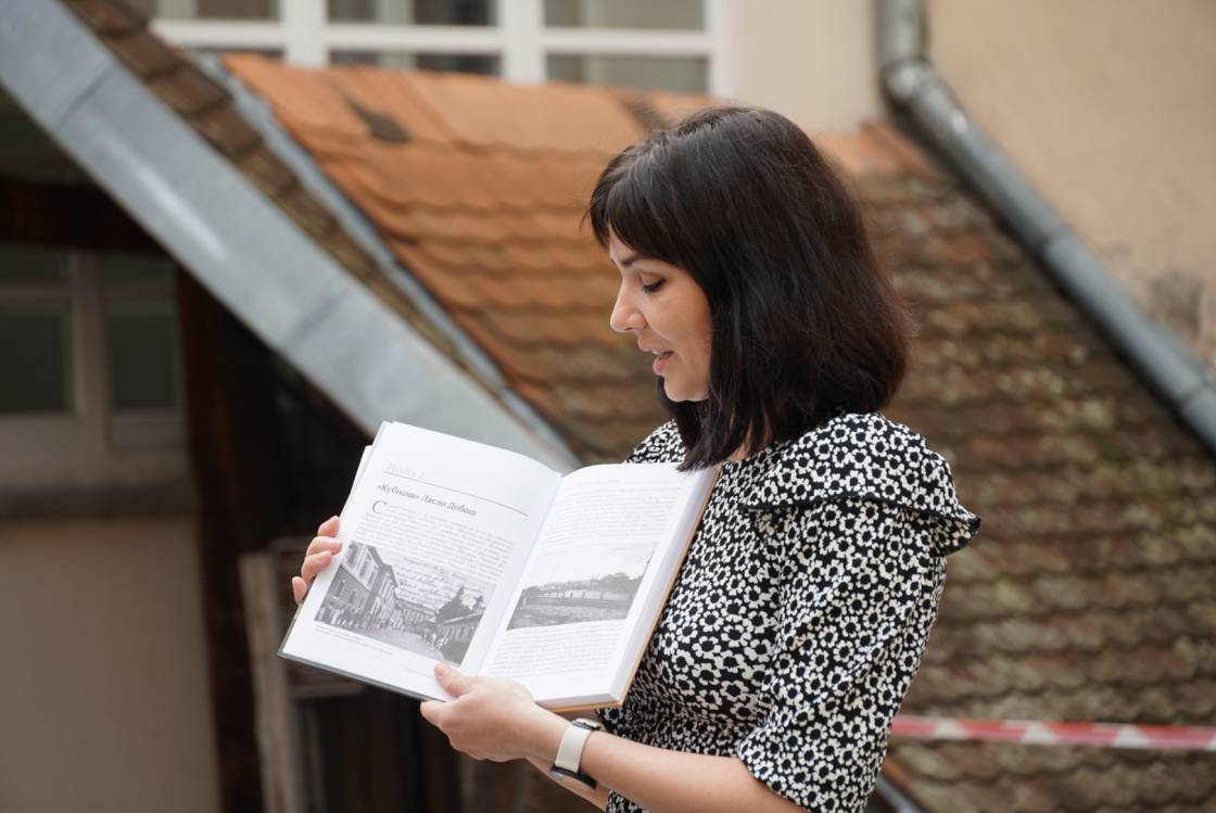 Третю книгу «Втрачений Ужгород» презентувала журналістка Тетяна Літераті