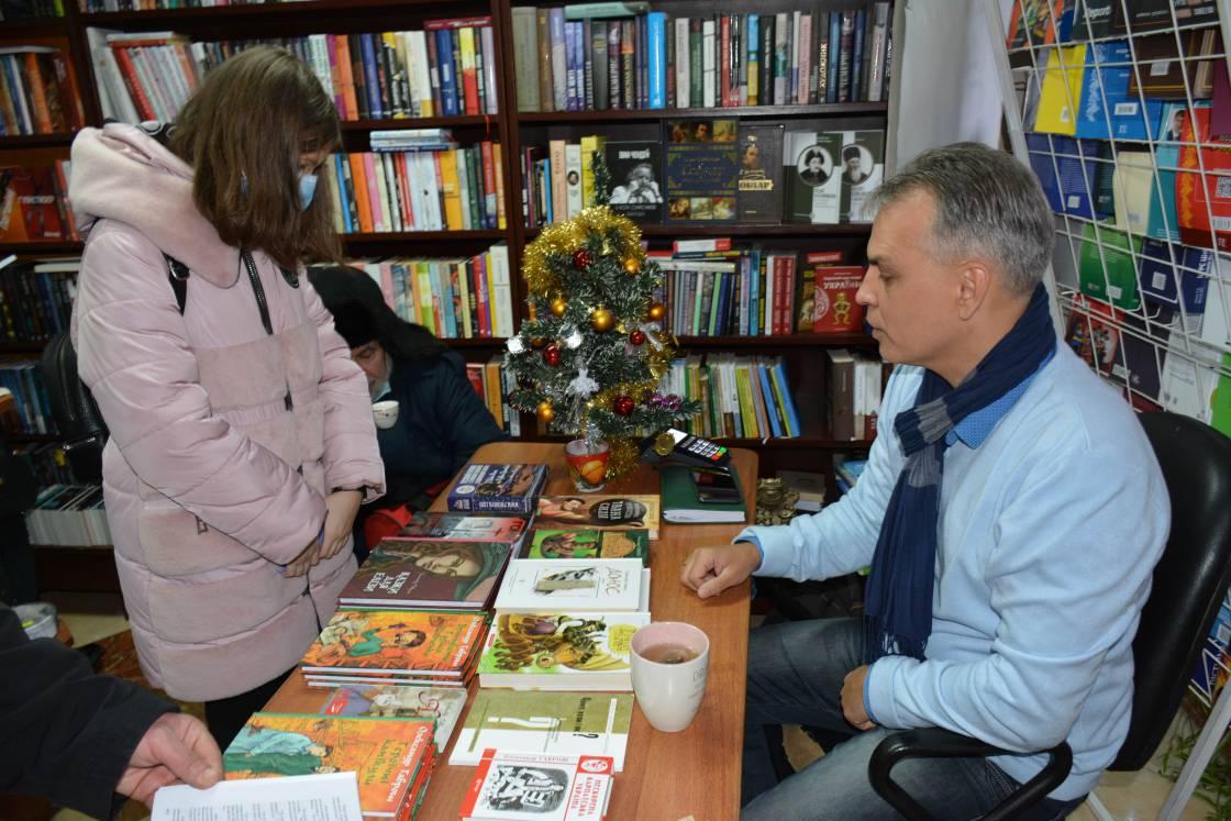 Книжкову акцію в «Кобзарі» цьогоріч завершив Олександр Гаврош