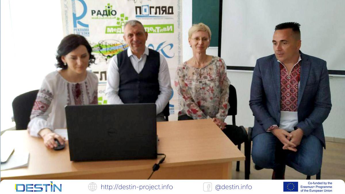 День відкритих дверей на відділенні журналістики УжНУ цього року влаштували в рамках міжнародного проєкту «DESTIN»